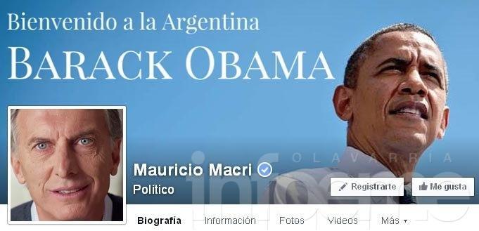 La bienvenida de Macri a Obama en Facebook