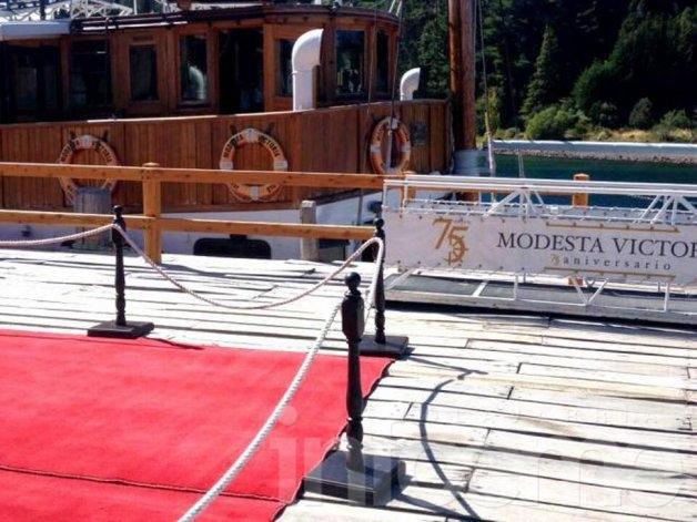 Obama navegó el Nahuel Huapi a bordo del Modesta Victoria