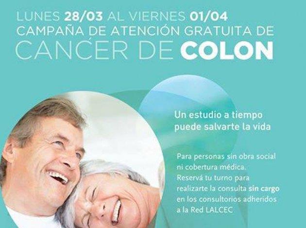 Campaña de atención gratuita contra el cáncer de colon