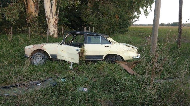 Volcó un auto en avenida Ituzaingó: no hubo heridos