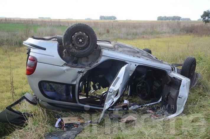 Cinco personas fallecieron en un accidente en la Ruta 51, casi límite con Laprida