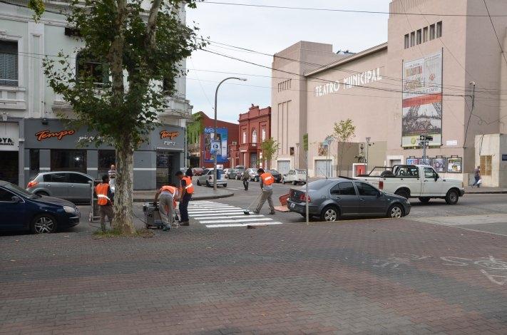 Más seguridad vial, más sendas peatonales remarcadas
