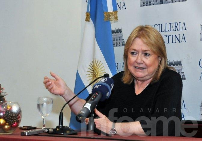 """Malcorra destacó como """"un logro"""" el nuevo límite de plataforma continental"""