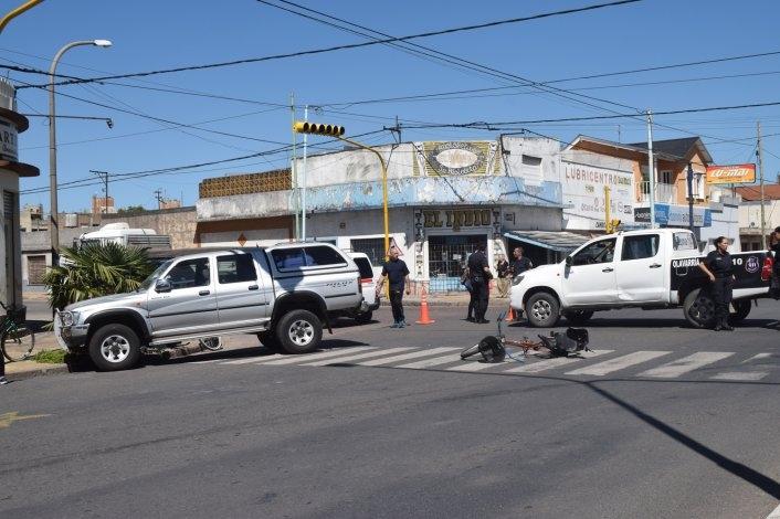 Accidente: una ciclista fue trasladada al Hospital