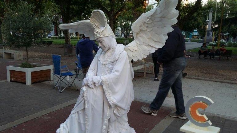 Se realizó el 3° Encuentro de Estatuas Vivientes