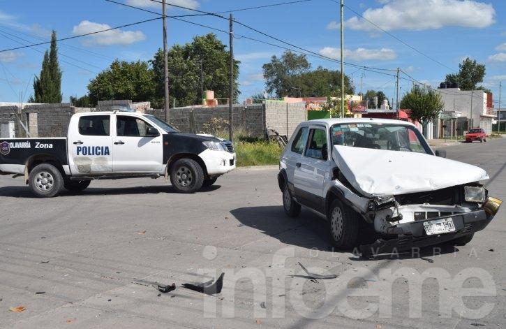 Una mujer herida en fuerte choque entre dos autos