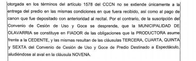 """Indio en Olavarría: Tribunal de Cuentas rechazó la figura de """"fiador"""" del Municipio"""