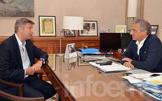 José Eseverri recibió al diputado provincial Mauricio D´Alesandro