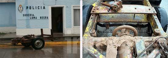 Recuperan maquinaria robada en una cantera