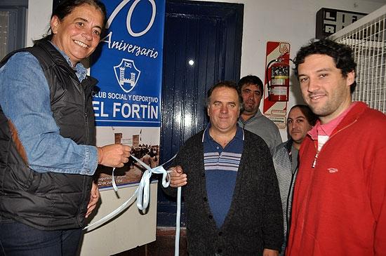 Inauguraron la obra de gas en El Fortín