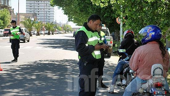 Más de 40 actas de infracción en los controles de tránsito durante el fin de semana