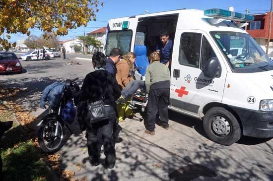 Un ciclista y un motociclista heridos en una colisión