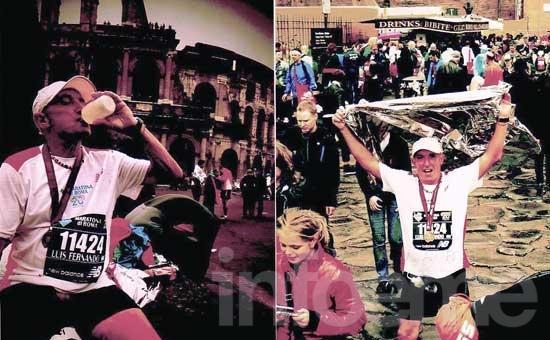 Atleta no docente participó de un maratón en Roma