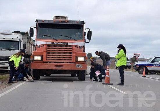Detectaron tres camiones con exceso de carga