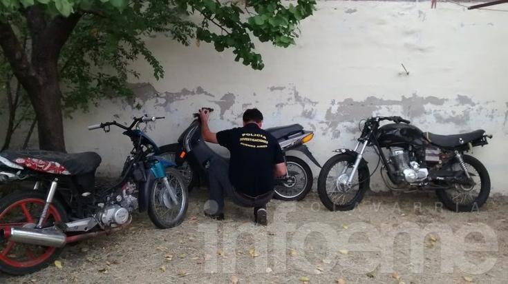 Se recuperaron tres motos