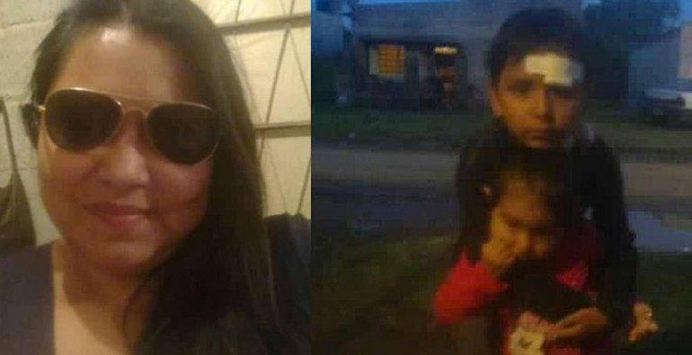 Buscan a una madre y sus dos hijos