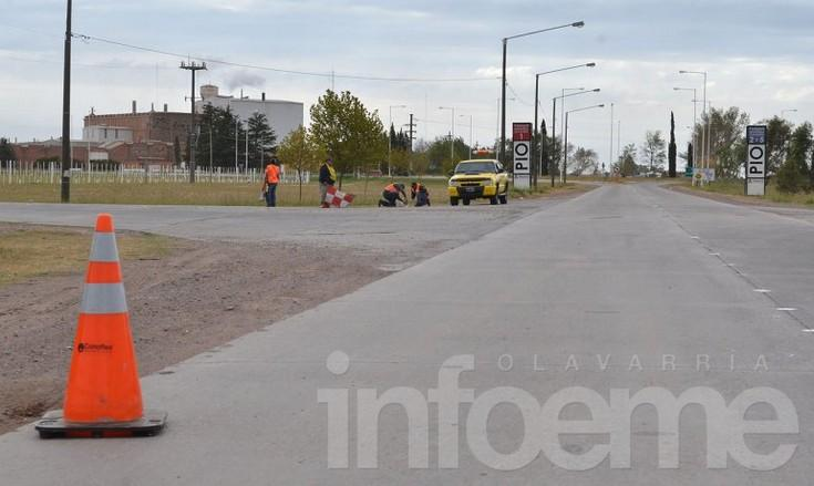 Iniciaron trabajos de demarcación vial en accesos a la ciudad
