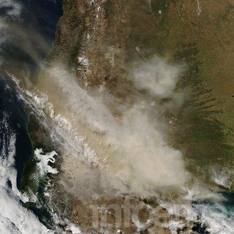 Las cenizas del volcán Calbuco llegaron a Olavarría