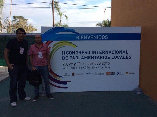 Concejales locales en el Congreso Internacional de Parlamentarios