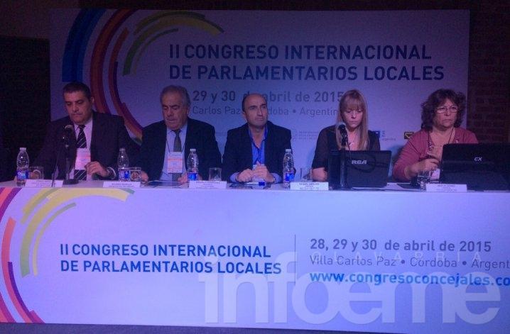 Eduardo Rodríguez expuso en el Congreso de Parlamentarios