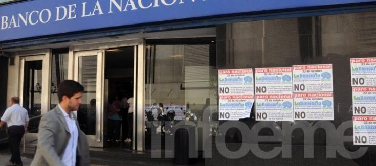 Los bancarios en plan de lucha, anunciaron paro por 24 horas
