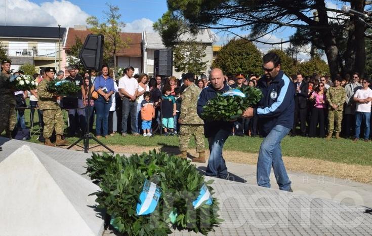 Se realizó el acto oficial por el 34º aniversario de la gesta de Malvinas