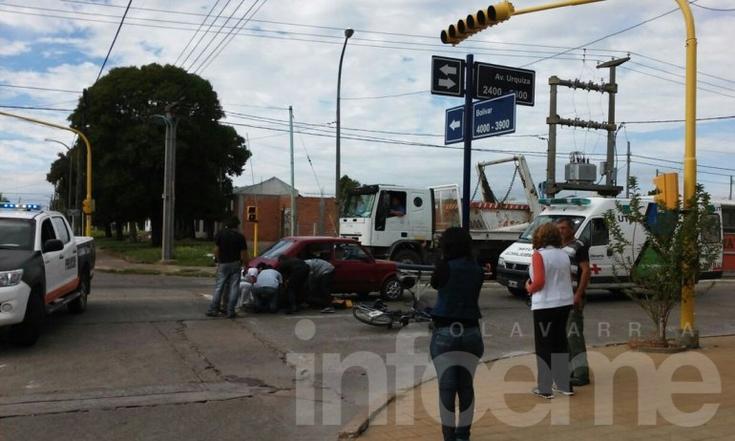 Ciclista herido en choque con un auto