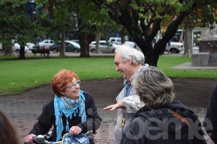 Se reunieron en la Plaza para apoyar a Cristina