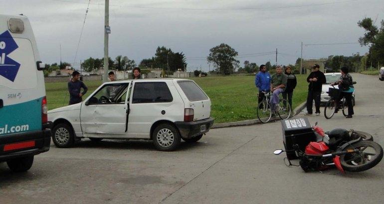 Dos personas sufrieron heridas en un accidente