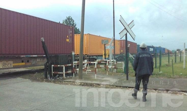 Descarriló un vagón de un tren de carga