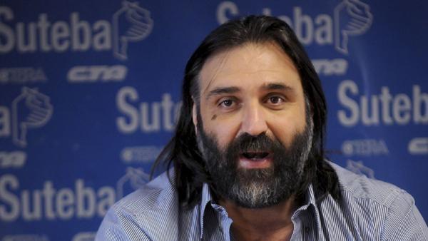 Roberto Baradel, este lunes en Olavarría
