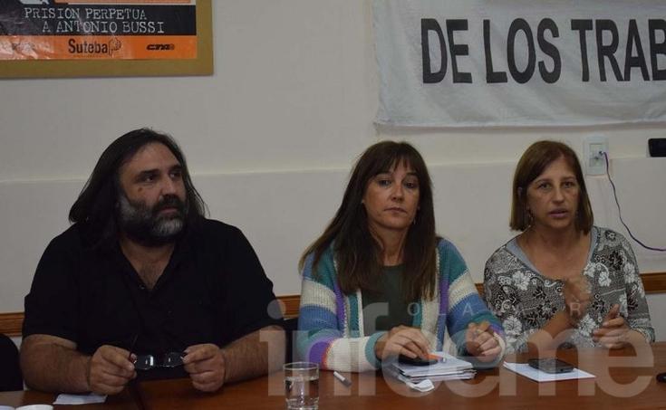 """Baradel en Olavarría: """"A la gobernadora la vimos una sola vez"""""""