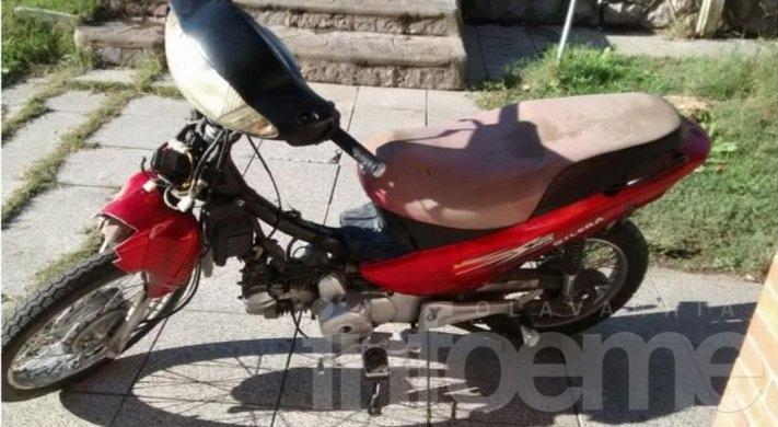 Encontraron una moto robada