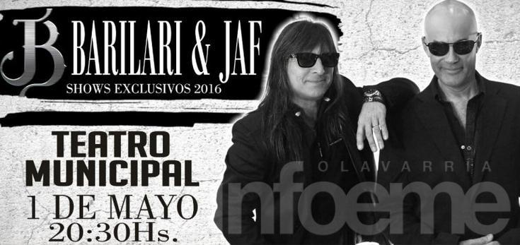 """Infoeme te invita a ver el show de """"Barilari + JAF"""""""