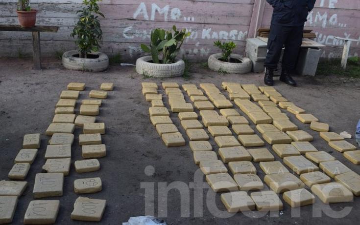 Incautan casi 100kg de droga en un megaoperativo policial