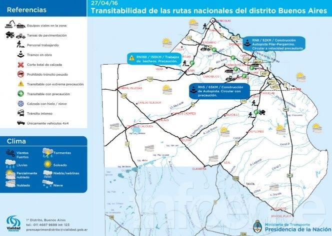 Mapa de transitabilidad