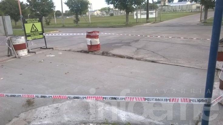 Trabajos de mantenimiento de pavimento de hormigón en Sierra Chica