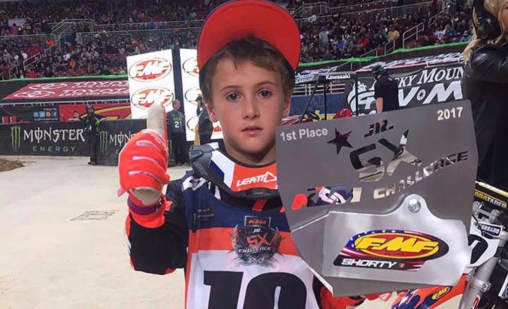 Motocross: un olavarriense de 8 años hizo historia en Estados Unidos
