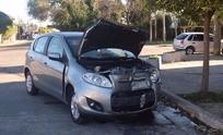 Automovilista sufrió heridas en un violento choque