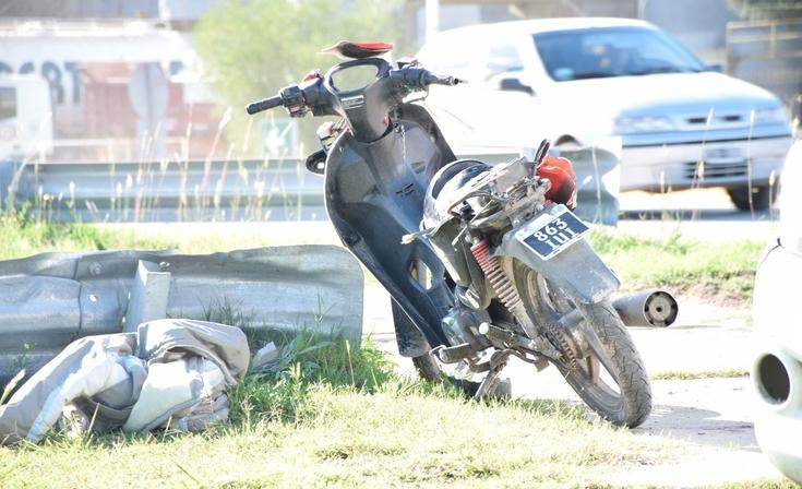 Motociclista protagonizó un fuerte accidente