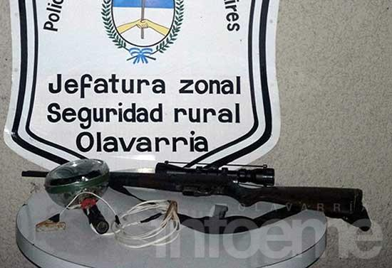 Secuestran una carabina en control policial
