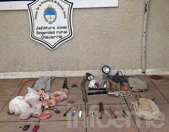 Secuestran armas y carne en allanamientos por abigeato