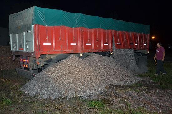 Detectaron a dos camiones con exceso de carga