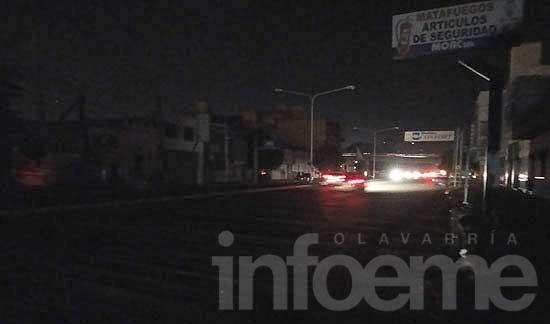 La Ciudad se quedó sin luz por una falla eléctrica