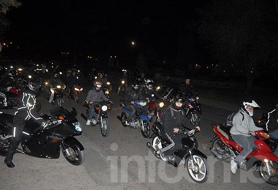 Motoqueros se movilizaron contra la nueva ley provincial