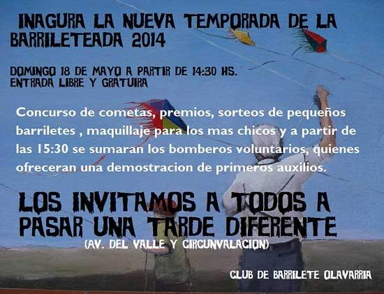 El club del barrilete inaugura temporada 2014