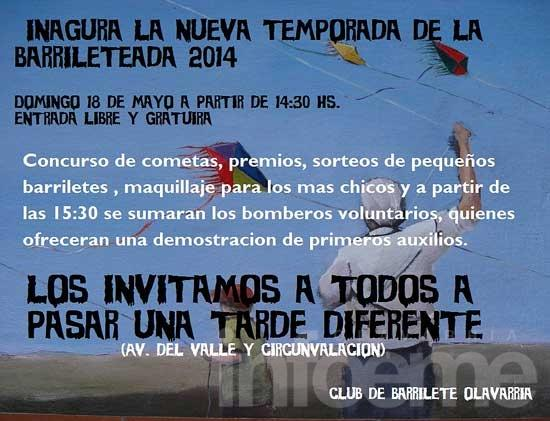 El club del barrilete inaugura temporada 2014