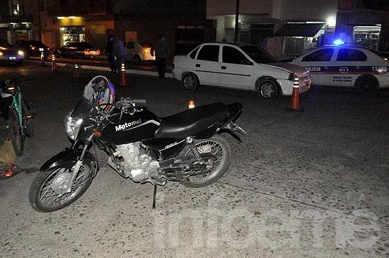Motociclistas heridos en sendos accidentes de tránsito