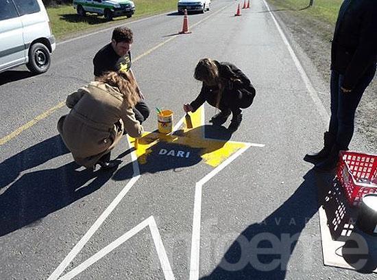 Pintaron una estrella amarilla en Sierras Bayas
