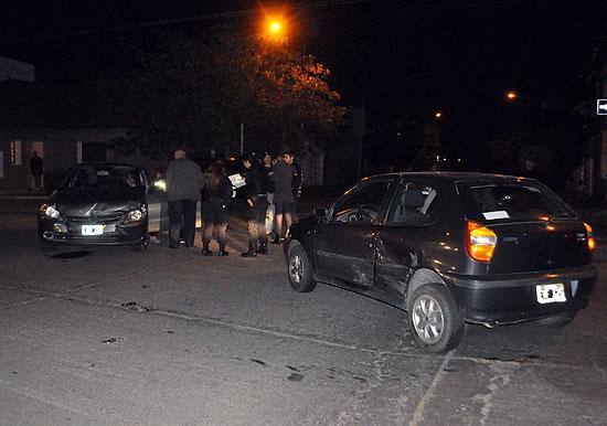 Fuerte choque entre dos autos: no hubo heridos